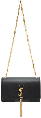 Saint Laurent Black Medium Kate Tassel Chain Wallet Bag