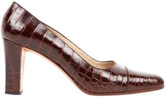 Chanel Brown Crocodile Heels