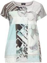 Via Appia Plus Size Printed shirt