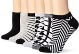 Hot Sox Women's Houndstooth Ped 6 Pack Sock