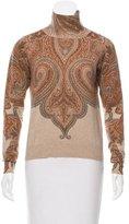 Etro Cashmere Paisley Print Sweater