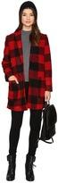 BB Dakota Holton Plaid Coat Women's Coat