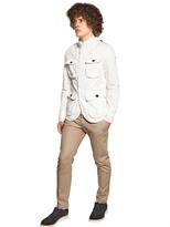 DSquared Dyed Cotton Canvas Military Jacket