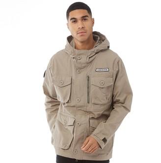 Converse Mens Printed Cotton Utility Jacket Khaki