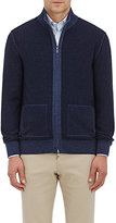 Fioroni FIORONI MEN'S CASHMERE-WOOL REVERSIBLE ZIP-FRONT SWEATER