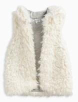 Splendid Little Girl Reversible Hooded Fur Vest