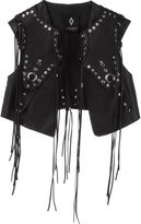 Marcelo Burlon County of Milan 'Anelis' gilet - women - Bullhide Leather - S