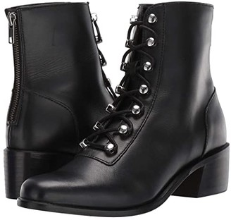Free People Eberly Lace-Up Boot (Black) Women's Shoes