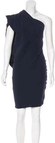 Lanvin Embellished One-Shoulder Dress
