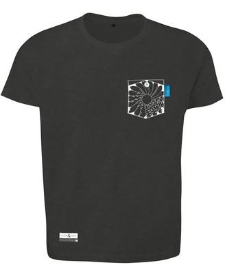 Anchor & Crew Slate Grey Explorer Print Organic Cotton T-Shirt Mens