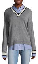 Joie Belva V-Neck Cotton Sweater