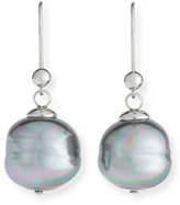 Majorica Baroque Pearl Drop Earrings, Gray