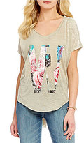 William Rast Stefani Short Sleeve Logo Graphic Tee