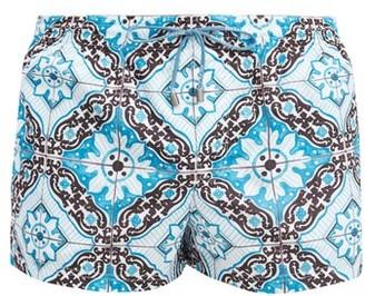 Dolce & Gabbana Tile-print Swim Shorts - Black Multi
