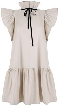 Monica Nera Angela Beige Cotton Dress