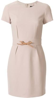 Paule Ka Short Sleeve Fitted Dress
