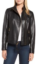 Via Spiga Women's Ponte & Leather Jacket