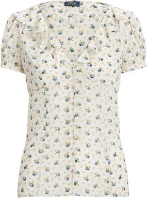 Ralph Lauren Floral Crepe Blouse