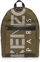 Kenzo Nylon With Sport Logo Print Backpack