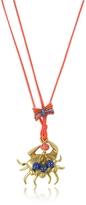 Tory Burch Crab Charm Thread Necklace