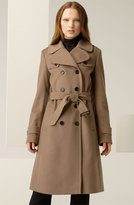 Double Breasted Wool Blend Trench