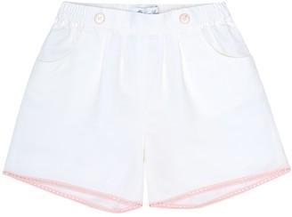 Loro Piana Kids Kelsie embellished cotton-blend shorts
