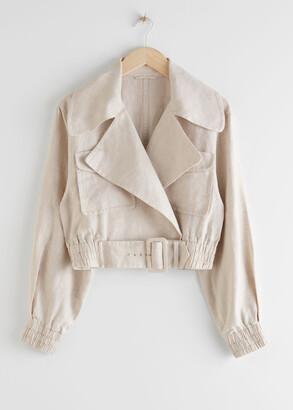And other stories Linen Biker Jacket