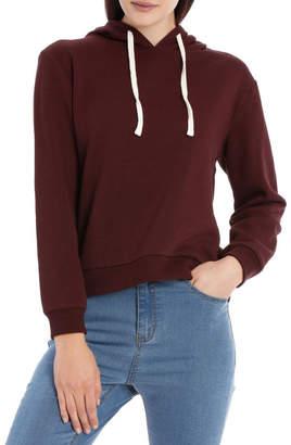 Miss Shop Essentials Fleece Back Hooded Sweat Top