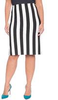 ELOQUII Plus Size Vertical Striped Pencil Skirt