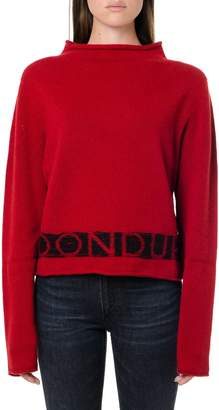 Dondup Red & Black Wool-cashmere Blend Jumper