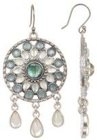 Lucky Brand Seafoam Medallion Drop Earrings