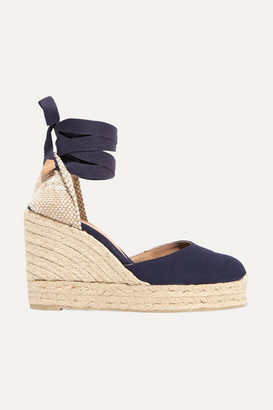 Castaner Carina 100 Canvas Wedge Espadrilles - Navy