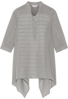 Max Mara Aderire Oversized Striped Cotton And Silk-blend Shirt - Black