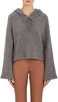 The Elder Statesman Women's Cashmere Hooded Sweater-GREY