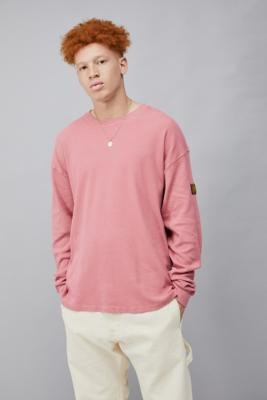Long Gone Brushed Cotton Long-Sleeve T-Shirt - Red S at Urban Outfitters