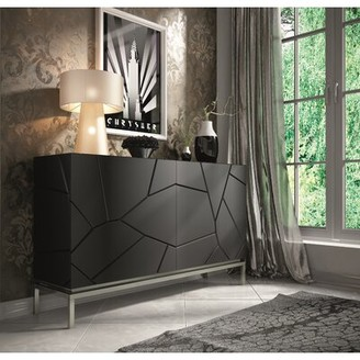 Everly Miramontes 59.06'' Wide 4 Drawer Sideboard Quinn Color: Matte
