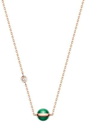Piaget Possession 18K Rose Gold, Malachite & Diamond Pendant Necklace