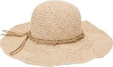 San Diego Hat Company Woven Paper Floppy Hat with Macrame Trim PBL3085 (Women's)