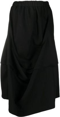 Comme des Garçons Comme des Garçons High Waisted Draped Skirt
