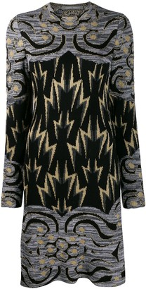 Alberta Ferretti Knitted Lightning Bolt Dress