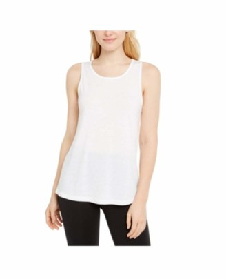 Ideology Womens White Sleeveless Scoop Neck Top Size: M