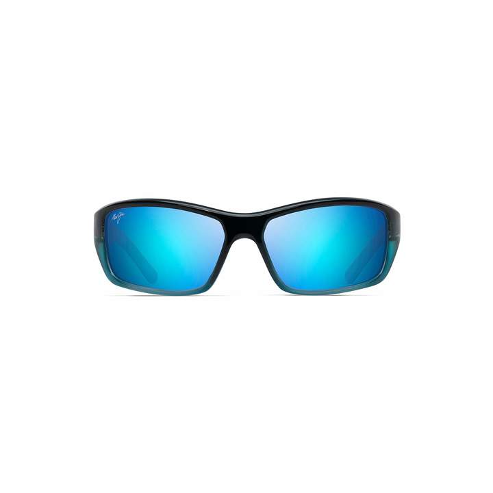 Maui Jim Barrier Reef B792-06C | Polarized Blue with Turquoise Wrap Frame Sunglasses Hawaii Lenses with with Patented PolarizedPlus2 Lens Technology