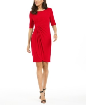Connected Petite Faux Wrap Dress