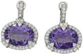 Judith Ripka 18K White Gold 4.00 Ct Amethyst and 0.86 Ct Diamond Earrings