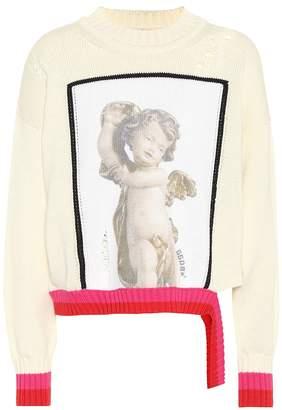 Golden Goose Intarsia cotton sweater