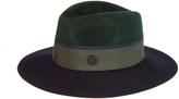 Maison Michel Henrietta bi-colour rabbit-fur felt hat