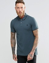 Paul Smith PS by Polo Shirt With PS Logo In Slim Fit Gray