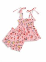 MIO Baby's Two-Piece Layette Gathered Top and Bloomers Set