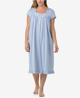 Eileen West Plus Size Ruffled Printed Cotton Waltz-Length Nightgown