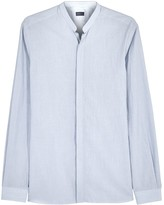 Lanvin Blue Pinstriped Cotton Shirt